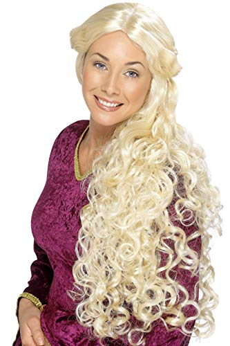Smiffys, Damen Renaissance Perücke, One Size, Blond, 42173 (Blonde Renaissance Perücke Kostüm)