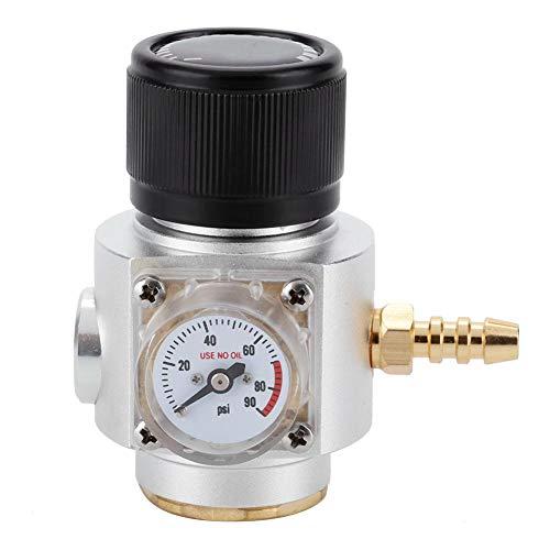 Cafopgrill CO2 Mini Gasregler, T21 * 4 Soda Manometer Draht CO2 Ladegerät Kit Bier Kegerator Hause Fassbierflasche Homebrew Zubehör (0-90PSI) - 4 0 Aluminium-draht