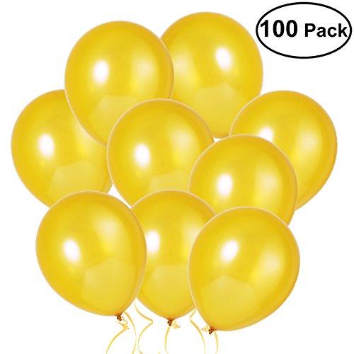 old,Hochzeits Luftballons,12-Zoll-Latex-Ballon für Party, 100 Stück, (Golden) (Paket Lieferung Kostüm)