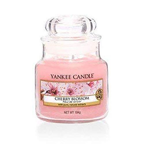 Yankee Candle Cherry Blossom Glaskerze, pink, klein