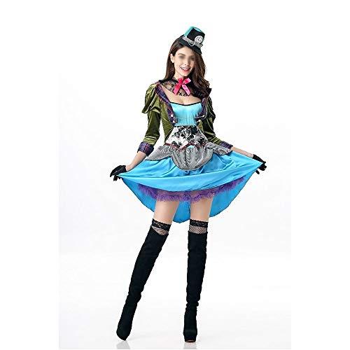 Weibliche Mad Hatter Halloween Kostüm - RJJX Home Modische Halloween-Kostüme, Herrlich und