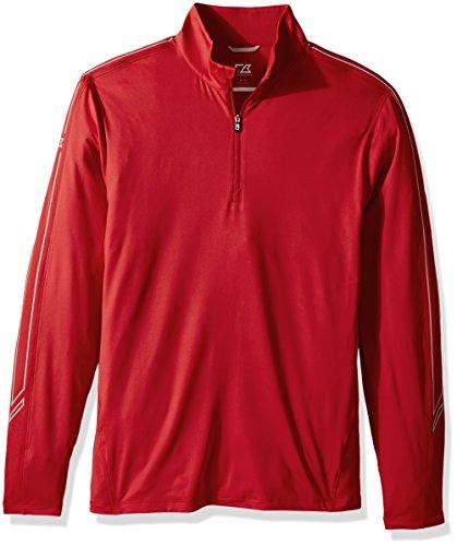 Cutter & Buck Herren Lightweight 50+ UPF Jersey Pennant Sport 3/4 Zip Pullover Hemd, Virtual, Groß -