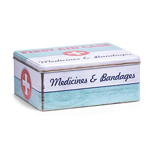 Zeller 19226 Medizin-Box First Aid, Metall, ca. 21 x 16,6 x 8,5 cm