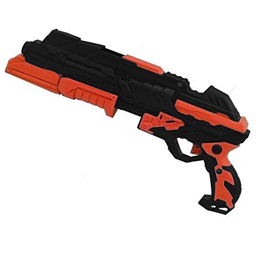 le Spielzeug, BEETEST -Kinder Spielzeugpistole, Rotes und Blaues Licht Positionierungsziel, weicher Schaum Dart oder Wasserbombe(Orange) (Kinder Wasser Pistolen)