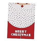 SM SunniMix Weihnachten Baumwolle Türvorhang Tür Vorhang Gardine Balkonvorhang Deko - Weihnachtsmann Red L