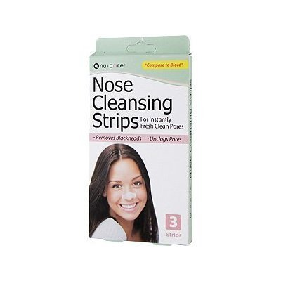 Nose Cleansing Strips : for instantly fresh clean pores, pack of 3 (total 9 strips) by nu-pore (Pore Cleansing Strips Nu)