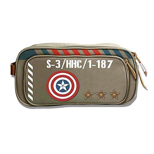 Marvel-CA-Vintage-Military-Army-Zip-Top-Toiletry-Bag