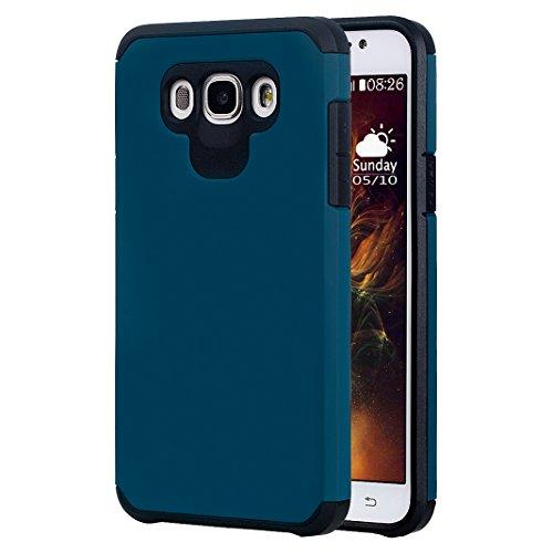 Preisvergleich Produktbild Galaxy J7 2016 Hülle Outdoor Rosa Schleife® PC Hard Back Cover Weich Silikon Bumper mit Dual Layer Schutz Hybrid Case Schutzhülle Handyhülle für Samsung Galaxy J7 2016 / J7109 / J7108 (5.5 Zoll)
