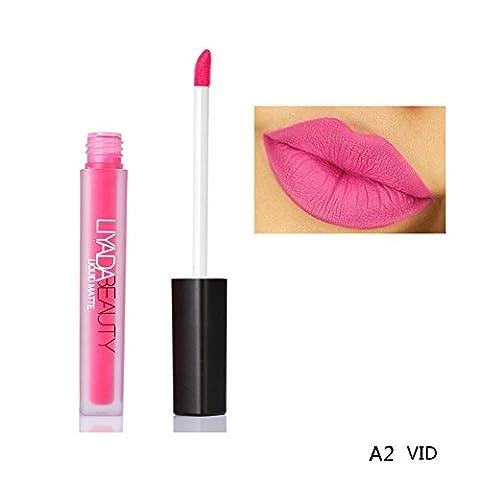 BOBORA 9 Farbe Lippenstift Liquid Lippen Kosmetik Damen Sexy Red Fleck Braun Nude Matte Lip Gloss Lippen Tattoo Kit Makeup Party