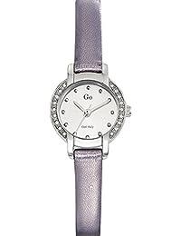 Go Girl Only Damen-Armbanduhr 698628–Quarz–Analog Zifferblatt Silber Armband Leder Silber