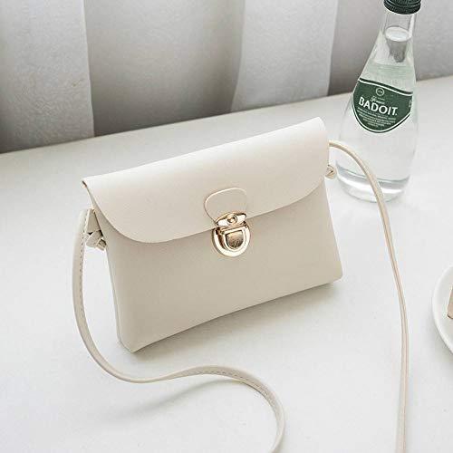 MMKONG Mode Frauen Umhängetasche Handtaschen Frauen Taschen Designer Crossbody Umhängetasche Für Frauen Flap Bag Leder Weiblich-White -