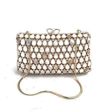 KUKIE Best 4U® Damen Taschen Glas Metall Abendtasche Kristall Verzierung für Hochzeit Veranstaltung Fest Frühling Herbst Gold -