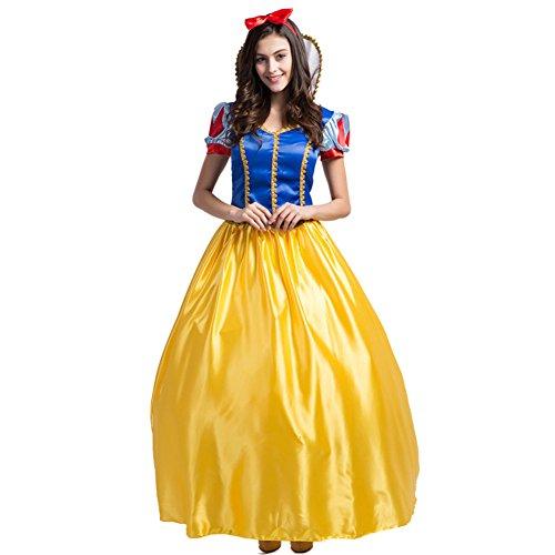 eewittchen Halloween Cosplay Kostüm Prinzessin Kleid Abendparty Kleid Fasching Kostüm (Schneewittchen Kostüm Für Halloween)
