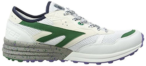 Hi-Tec Badwater, Chaussures de Fitness homme Blanc (White/Evergreen/Purple 011)