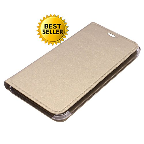 RKMOBILES Leather Flip Case Cover - Golden For Moto G 4th Generation Plus G4 Plus (4th Gen Plus)