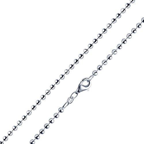 MATERIA 2,7mm Kugelkette Silber 925 hochglänzend - Halskette Damen Collier in 40-70cm mit Box #K10, Länge Halskette:60 cm