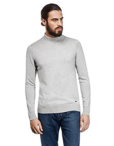 VB Sweater with ribbed turtle-neck, slim-fit,XL,grey