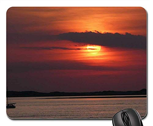 Mouse Pads - Sunset Cape Cod Sea Water Color Bay Scenic Shore