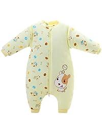 Happy Cherry - Saco de Dormir para Bebé con Pies Invierno Grueso Cálido Monos Acolchado con