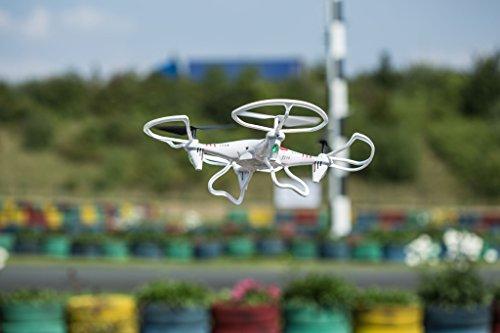 Revell Control RC Quadrocopter für Einsteiger, ferngesteuert mit 2,4 GHz Fernsteuerung, robust, Wechsel-Akku, Headless, Flip-Funktion, Geschwindigkeitsstufen, LED-Beleuchtung, Propellerschutz - 23937 - 7