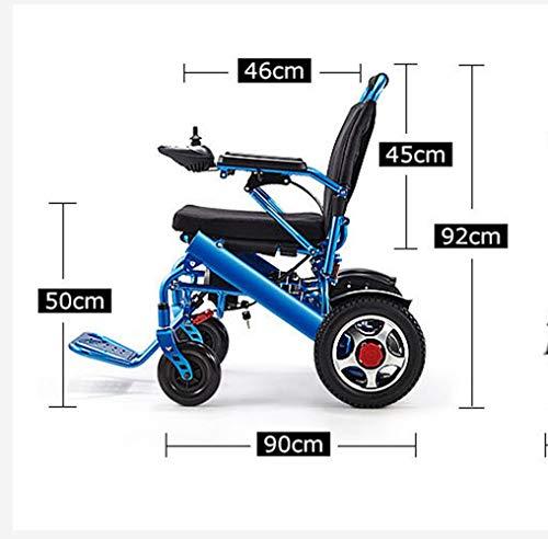Leichte Aluminium-Klapp Elektro-Rollstuhl Bequem Und Nicht Holprig, Doppelt Schützen Sie Ihre Familie Mehr Ruhe