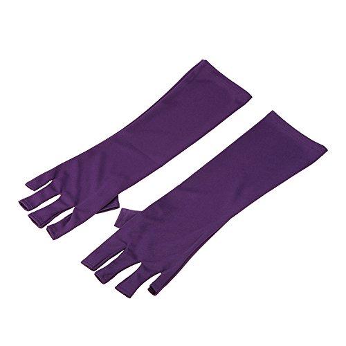 guanti manicure Anself Anti UV Guanto Nail Art Protezione Guanti Manicure Nail Art Asciugatrice Strumenti