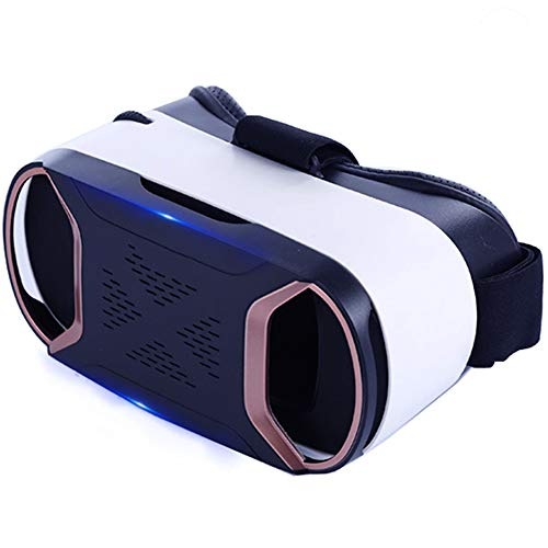 YANJINGYJ 3D VR Brille Virtual-Reality-Brille, Am Kopf montiert Unterstützung 4.0-6.0 Zoll iPhone/Android-Telefon,Black,Package1
