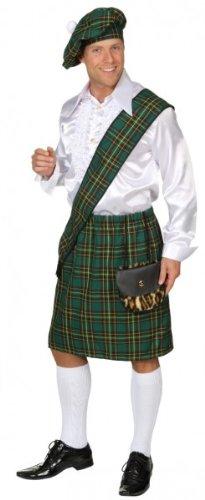 Schotten-Set, grün (Barett, Schärpe, - Schottland Kostüm