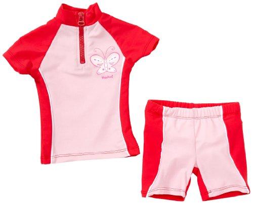 Playshoes Unisex - Baby Babybekleidung/ Badebekleidung UV-Schutz nach Standard 801 und Oeko-Tex Standard 100 Bade-Set Schmetterling mit Windeleinsatz 460062, Gr. 86/92, Rosa (900 original)