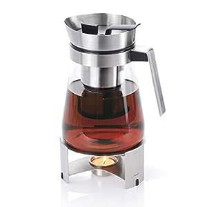 Théière passe thé verre et inox 1 L + réchaud Sencha - Blomus
