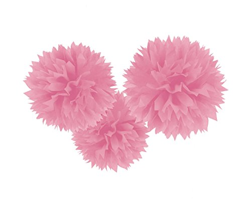 Amscan 18055-109-55 Fluffy Dekobälle, Hell Pink