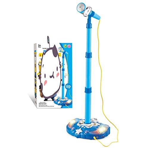 YUKIKO Kinder Karaoke Standmikrofon Justierbares Musikspielzeug mit Lichteffekt
