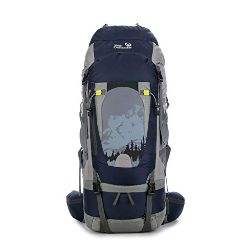 CUI XIA UK Outdoor Backpack Coco 80L Cadre en Alliage d'aluminium Alpinisme Sac à Dos léger de Loisirs de Plein air Sports Sac à Dos Camping pêche équitation Ski, avec Habillage de Pluie