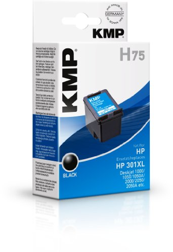 KMP H75 Tintenpatronen ersetzt HP 301XL, schwarz