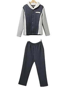 DMMSS Turndown di cuciture colore maschile collare cotone laminato tessuto Set di pigiama , l