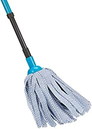 Sweany SW63889 Synthetic Mop with Telescopic Handle, Blue, 27.4 cm x 6.6 cm x 15.2 cm