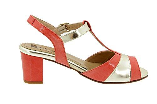 Chaussure femme confort en cuir Piesanto 4494 sandale confortables amples Cerise