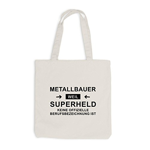 Borsa Di Iuta - Metal Maker Super Hero - Hero Profession Beige