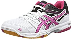 The Asics Gel-Rocket 7 ladies' indoor court shoes feature GEL® cushioning in the forefoot, helping you stay agile with easier and more comfortable landings, pivots and stops. The trainers weigh 261g (9.2oz) and have a light and comfortable open mesh ...