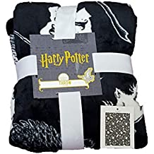 Manta de Cama Supersuave con Licencia de Primark de Harry Potter Wizarding World, Color Blanco