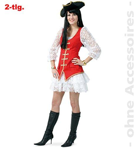 Piratin Becky Damenkostüm 2tlg Gr 40