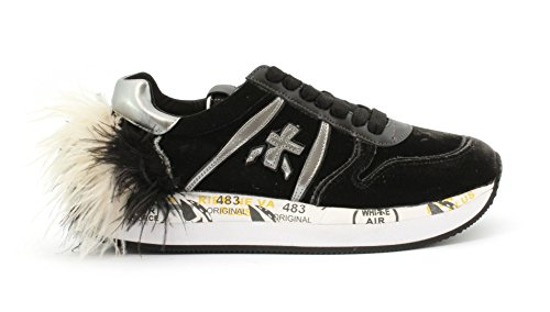 PREMIATA - Zapatillas de Terciopelo para mujer Negro negro Negro Size: 37