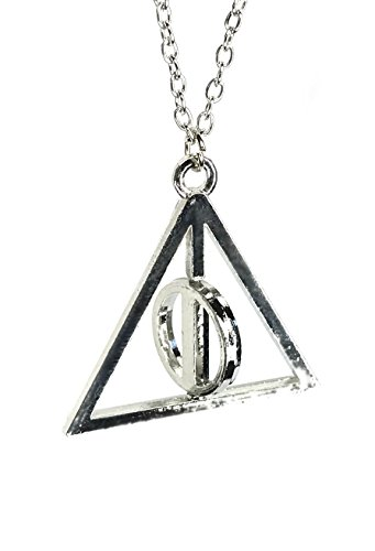 Harry Potter Deathly Hallows Rotating Triangle Necklace | Harry Potter Necklace for Girls & Boys | Harry Potter Accessories