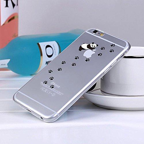 Pacyer® iPhone 6/6s Custodia Panda TPU case Gel Protettivo Skin Shell Case Cover Per Apple iPhone 6 6s (4,7) 3