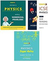 Exam18 ICSE Class 10 Physics Success Bundle (Physics Super Notes Workbook, Master Numerical Problems, Master G