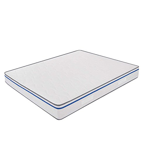 Miasuite - Materasso Matrimoniale in Memory Foam 160x190 alto 22 Cm con Dispositivo Medico ortopedico e rivestimento anallergico ed antiacaro ideale per letto matrimoniale, materasso memory matrimoniale con lastra in memory foam da 4 cm e lastra in waterfoam da 17 Cm, Materasso Easy