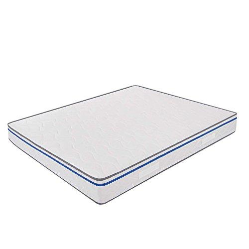 MiaSuite Easy Materasso, Memory Water Foam, Bianco, Matrimoniale, 160x190x22 cm