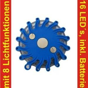 blaue Notfalllampe, Sondersignal, Rettungsdienst THW Feuerwehr Test