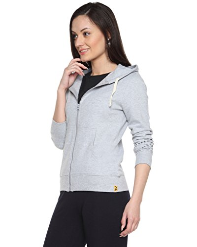 Campus-Sutra-Grey-Womens-cotton-Zipper-Hoodie