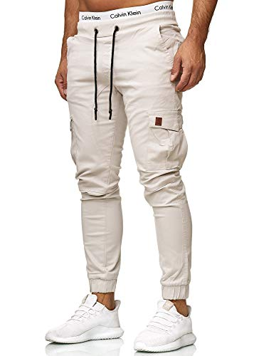 OneRedox Herren Chino Pants | Jeans | Skinny Fit | Modell 3301 Altweiss 31 -